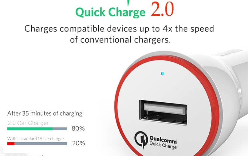 FASTER FCC-600 QUALCOMM MICRO CAR CHARGER 2.0A