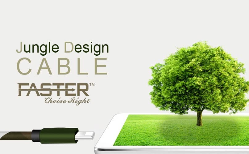 FASTER FC-65 Fast Charging Jungle Cable for Android