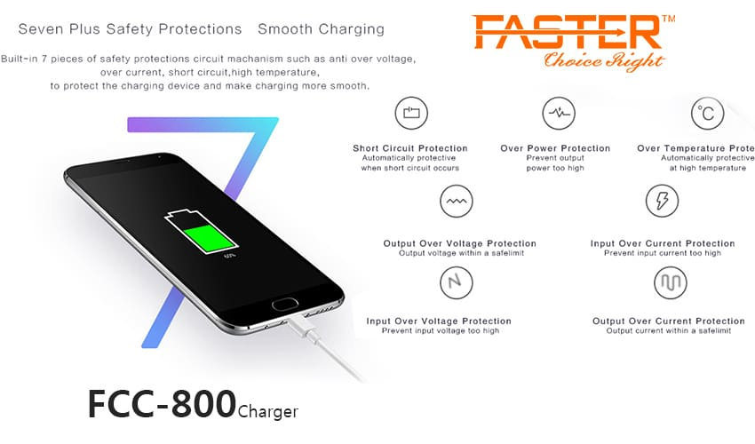 FASTER FCC-800 Smart Car Charger 2.4A