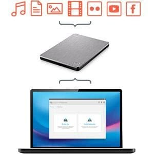 Seagate 2TB Backup Plus Slim (Rose Gold) USB 3.0 External Hard Drive for PC/Mac with 2 Months Free Adobe Photography Plan STDR2000309 3 Yrs