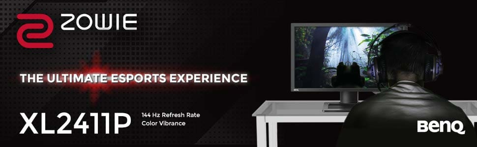 BenQ Zowie XL2411P 24 inch 144Hz Esports Gaming Monitor, 1080p, 1ms  Response Time, Black Equalizer, Color Vibrance, Height Adjustable, Display  Port,