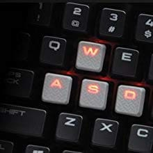 CORSAIR K70 LUX Mechanical Gaming Keyboard - Backlit Red LED - USB Passthrough & Media Controls - Linear & Quiet - Cherry MX Red