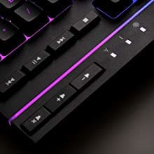 Signature light bar with smooth, stylish RGB effects