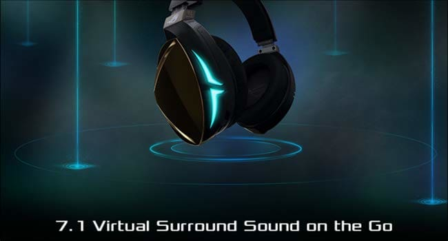ROG Strix Fusion 500 Virtual 7.1 LED Gaming Headset with Hi-Fi Grade ESS DAC ESS Amplifier Digital Microphone and Aura Sync RGB Lighting