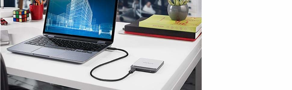 Seagate Fast SSD 500GB External SSD up to 540MB/s Reversible USB-C to Type-C/Type-A Cables Mac/PC | STCM500401 3 Yrs Warranty