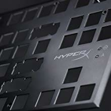 HyperX Alloy FPS Pro - Tenkeyless Mechanical Gaming Keyboard - 87-Key Ultra-Compact Form Factor - Linear & Quiet - Cherry MX Red - Red LED