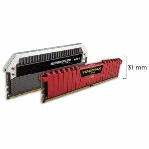 Corsair Vengeance LPX 4GB (1 x 4GB) DDR4 DRAM 2400MHz (PC4-19200) C16 Memory Kit Black CMK4GX4M1A2400C16