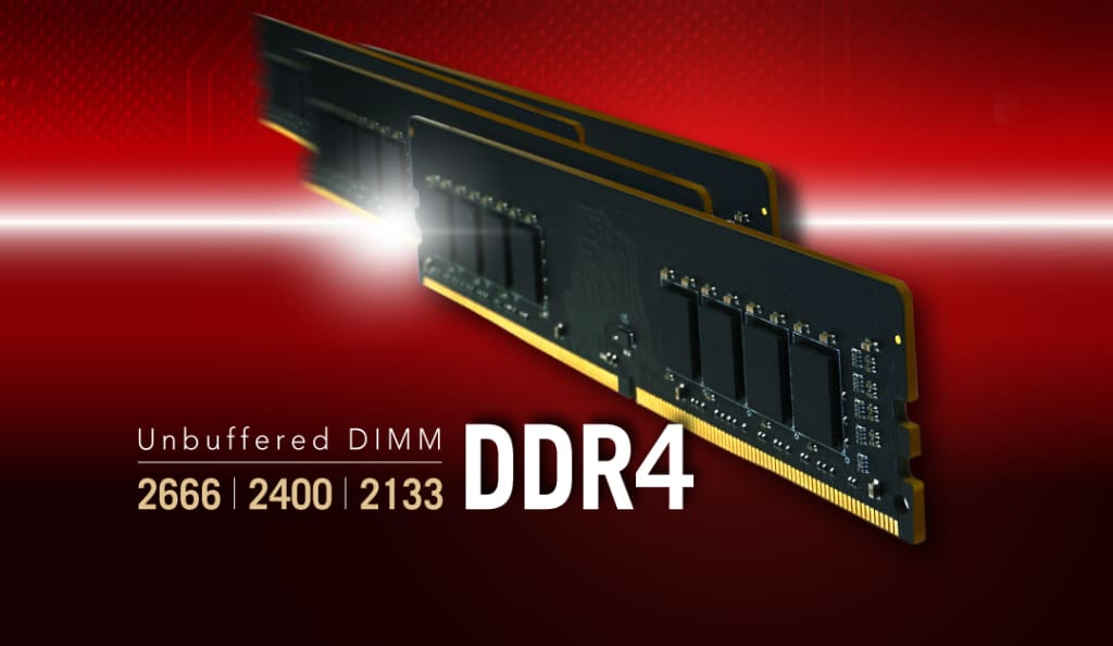 DDR4 288-PIN Unbuffered DIMM Upgrade to New Levels