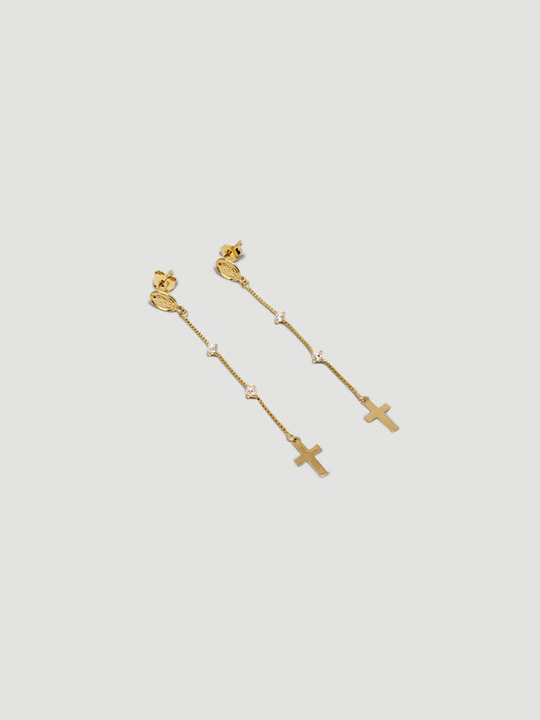 THE ROSARY HANGING EARRINGS