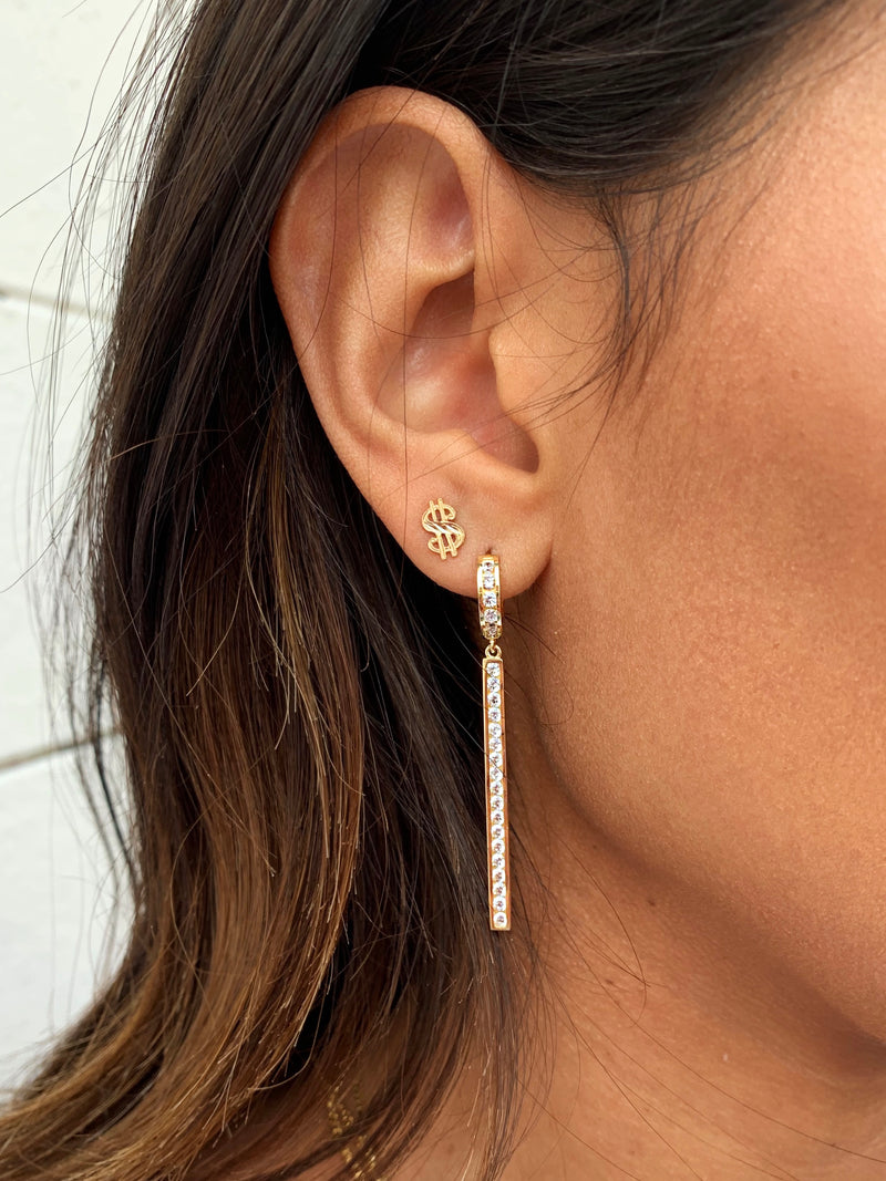 THE BLING BAR EARRINGS
