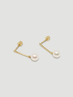 THE PEARL BAR DROP EARRINGS