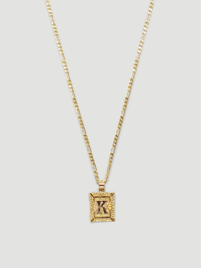 THE FRAMED INITIAL NECKLACE