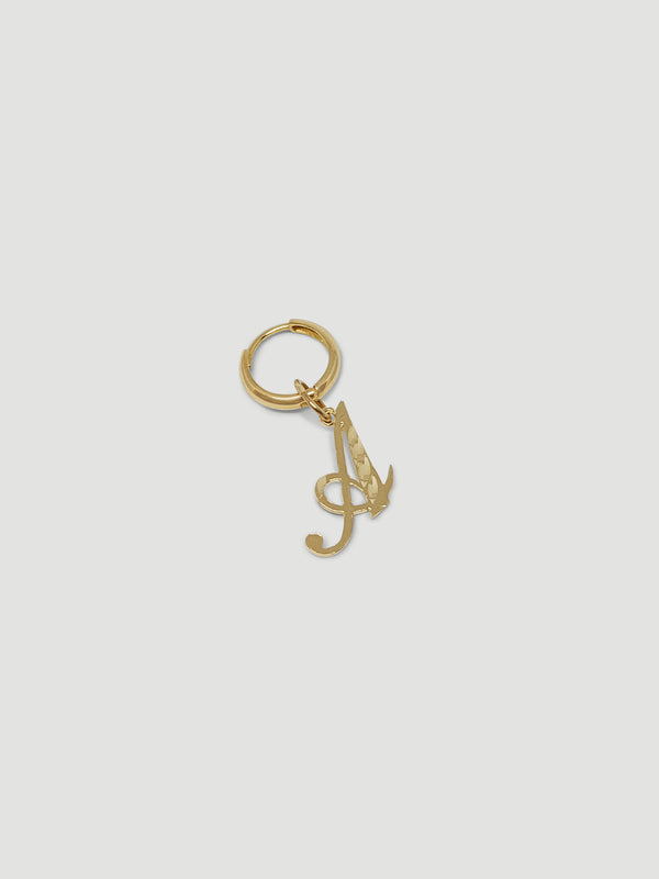THE SINGLE INITIAL EARRING