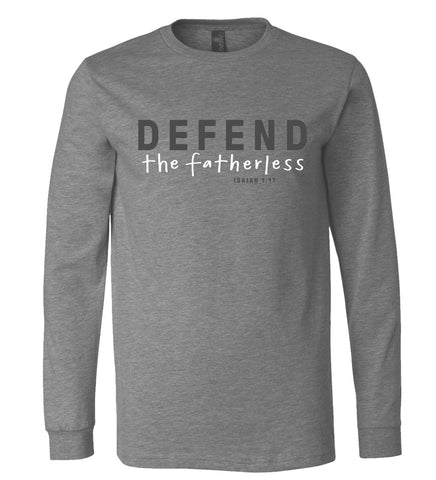Defend the Fatherless Long-Sleeve Tee