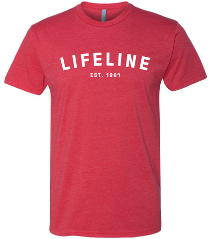 Lifeline Block T-Shirt - Red