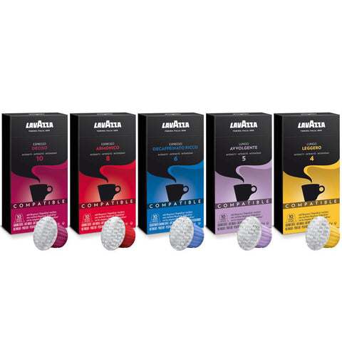 Lavazza Espresso Coffee Capsules Variety Pack (Pack of 60) Compatible with Nespresso Original* Machines