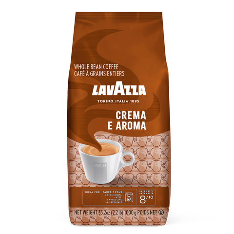 Lavazza Crema e Aroma Whole Bean Coffee Medium Roast