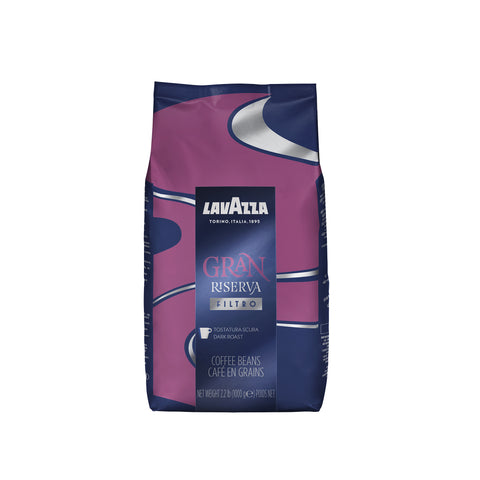 Lavazza Gran Riserva Filtro Whole Bean Coffee Dark Roast 2.2LB Bag