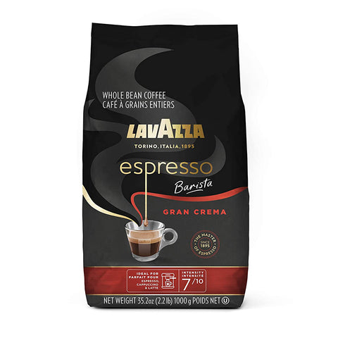 Lavazza Espresso Barista Gran Crema Whole Bean Coffee Blend, Medium Espresso Roast, 2.2LB Bag