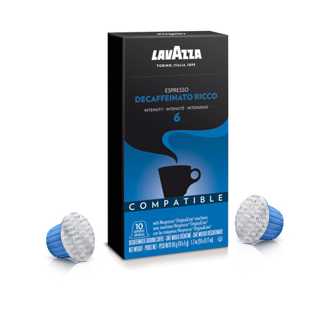 Lavazza Espresso Decaffeinato Ricco Coffee Capsules Compatible with Nespresso® Original* Machines