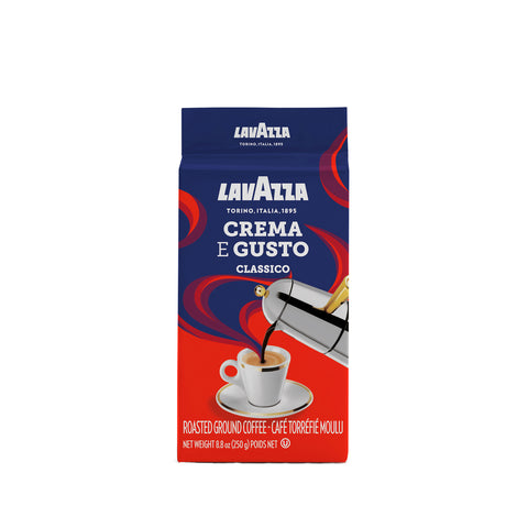 Lavazza Crema e Gusto Ground Coffee Blend Dark Roast