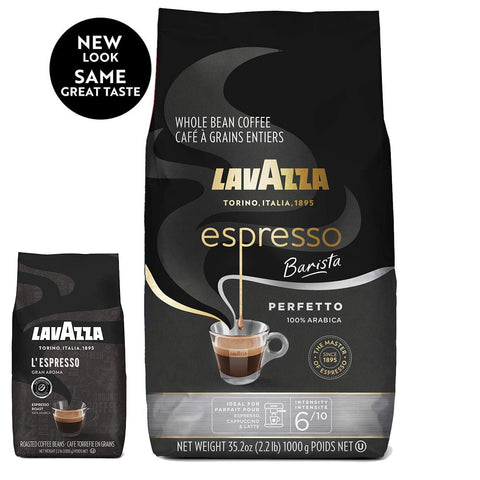 Lavazza Espresso Barista Whole Bean Coffee 100% Arabica, Medium Espresso Roast, 2.2-Pound Bag
