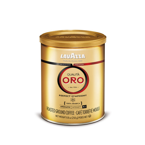 Lavazza Qualita Oro Italian Ground Coffee Blend Medium Roast 8.8 Oz Tin