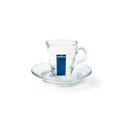 Lavazza Glass Collection Espresso Cup and Saucer (Set of 12)