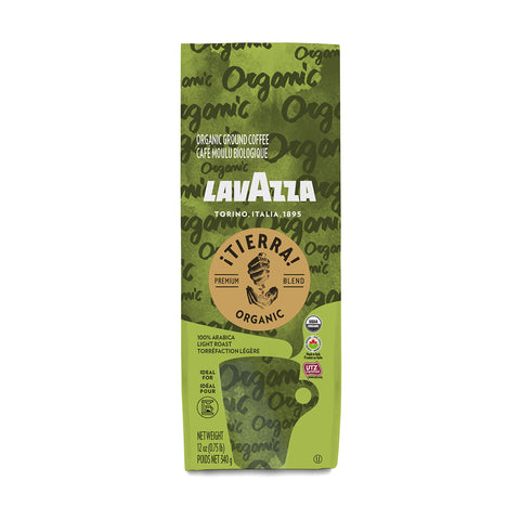 Lavazza ¡Tierra! USDA Organic Ground Coffee Premium Blend 12 oz. - 340g