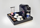 Lavazza Single Serve Classy Mini Espresso Machine LB 300 + Leather Classy Mini Tray