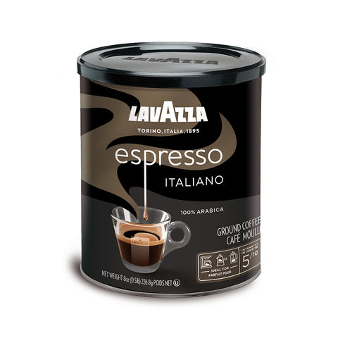 Lavazza Espresso Italiano Ground Coffee Medium Roast 8-Oz Can