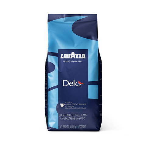 Lavazza Dek Whole Bean Coffee Dark Espresso Roast