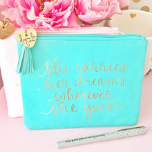 "Load image into Gallery viewer, ""Dreams"" Signature Pouch"