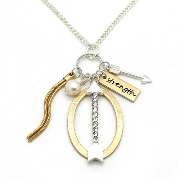 Arrow Strength Charm Necklace