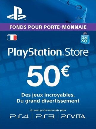 PlayStation Network Gift Card 50 EUR PSN FRANCE