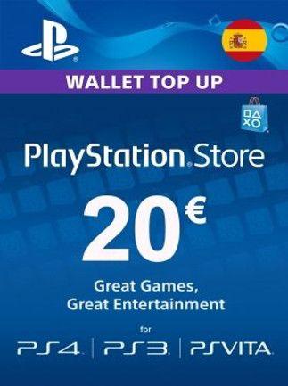 PlayStation Network Gift Card 20 EUR PSN SPAIN