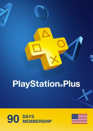 Playstation Plus CARD 90 Days PSN NORTH AMERICA