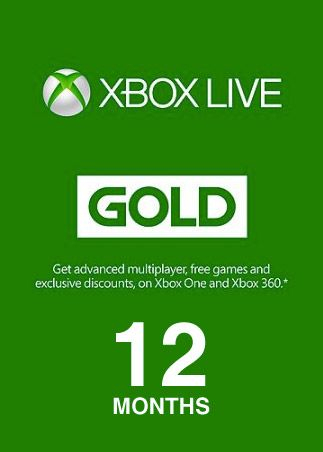 Xbox Live GOLD Subscription Card 12 Months XBOX LIVE EUROPE