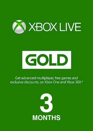 Xbox Live GOLD Subscription Card 3 Months CANADA XBOX LIVE