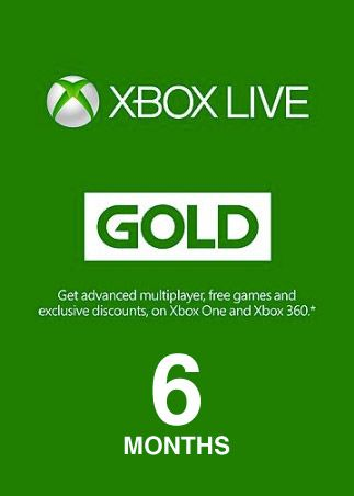 Xbox Live GOLD Subscription Card 6 Months GLOBAL XBOX LIVE