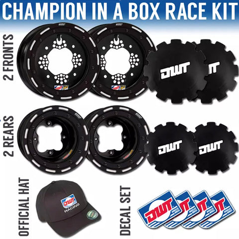 DWT Champion Set Worcs Black Beadlock Rings for Yamaha YFZ 450