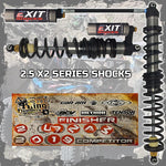 Polaris RZR XP Turbo EXIT Shocks 2.5 X2 Series (2016-2019)