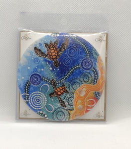 Ceramic Coaster Chernee turtle
