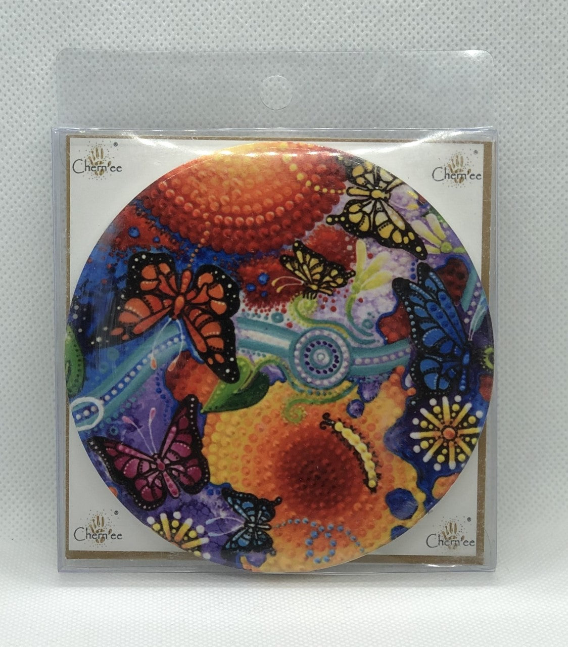 Ceramic Coaster Chernee Butterfly