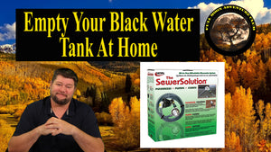 Empty Your Black Water Tank At Home Without A Sewer Connection