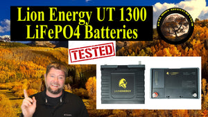 How long will two LiFePO4 batteries Run My RV   Lion Energy  UT 1300 battery test