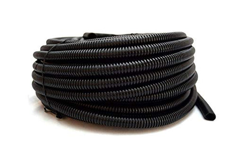 "Wire Loom Black 20' Feet 3/8"" Split Tubing Hose Cover Auto Home Marine"