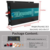 WZRELB 3000w Pure Sine Wave Solar Power Inverter Home Power supply Car Inverter Generator