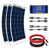 ECO-WORTHY 450W Flexible Solar Panel Kit for RV with 3pcs 150W Solar Panel and 60A Charge Controller for Boats, RV, Tents, Roofs, Uneven Surfaces