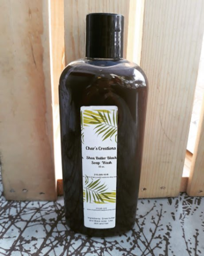 Liquid Black Soap with Shea Butter Facial, Hair and Body Wash Cleanser